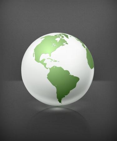 globo terraqueo: Blanca mundo