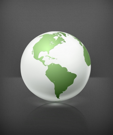 globe illustration: White globe