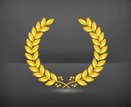 Laurel Wreath Gold Vector