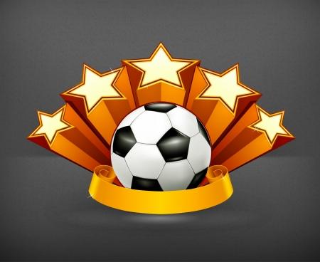 3d star: Soccer Emblem Illustration