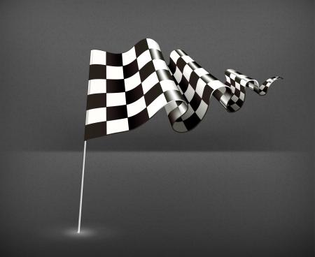Checkered Flag Stock Vector - 19437860