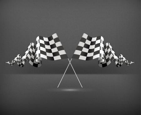 Checkered Flags Stock Vector - 19437848