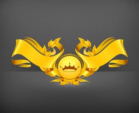Emblem gold Vector