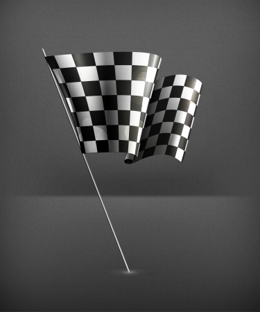 Checkered Flag, illustration Stock Vector - 19437854