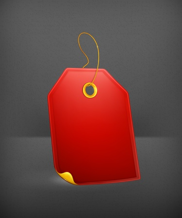 luggage tag: Red Gift Tag