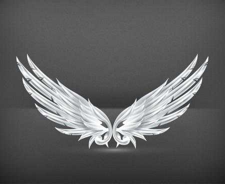 Vleugels White Vector Illustratie