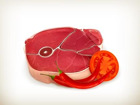 beef steak: Carne de ternera con verduras