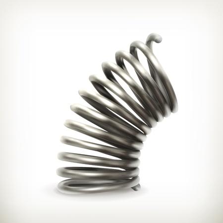metal spring: Elastic metal spring