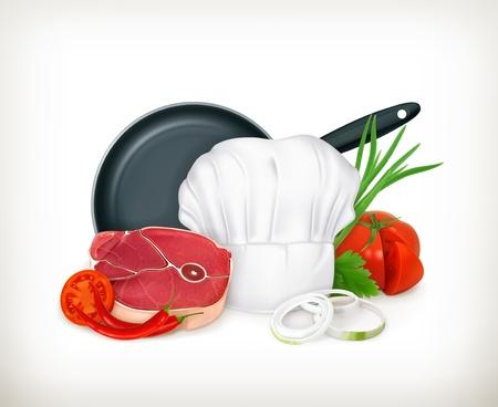 onion rings: Food illustration