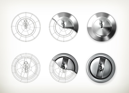 Keyhole drawing Vector