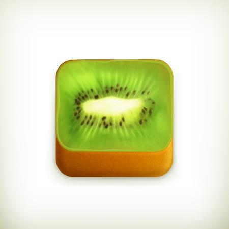 Kiwi app icon Stock Vector - 19438473