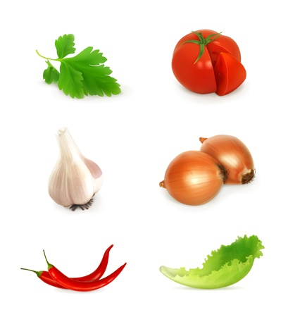 Vegetables set Vector