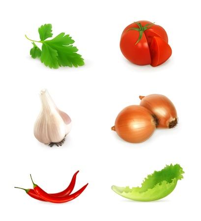 root vegetable: Vegetables set