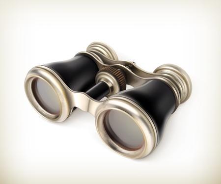 Vintage binoculars Stock Vector - 19438586