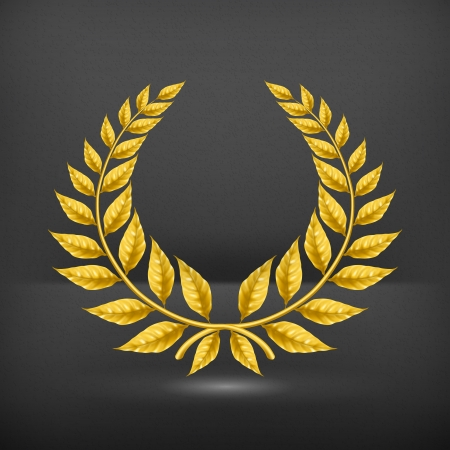 Golden wreath Vector
