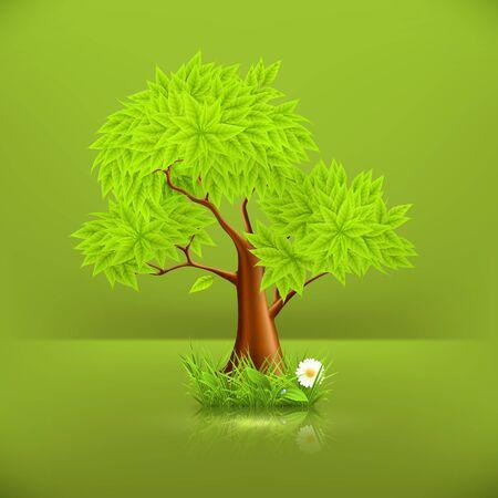 sedge: Green Tree Illustration