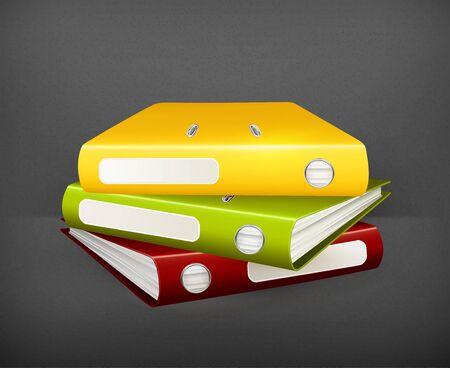 Folders Stock Vector - 19474376