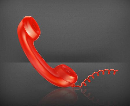 Red Handset Stock Vector - 19474672