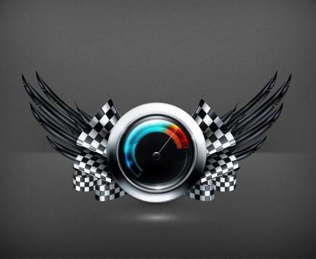 Speedometer emblem Stock Vector - 19474686