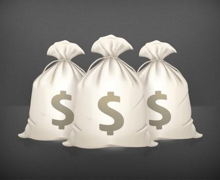 Three bags of money Stock Vector - 19474743