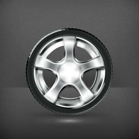 Car Wheel Stock Vector - 19474676