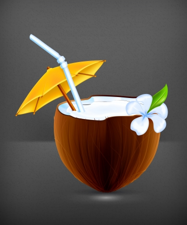 freshens: Coconut Cocktail Illustration