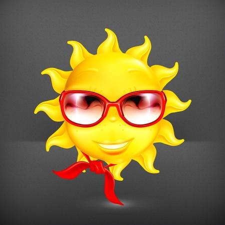 soleil rigolo: Fun soleil Illustration