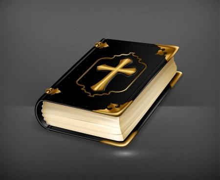 christian prayer: Holy Book Illustration