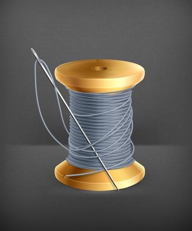gray thread: Spool of thread