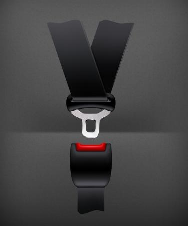 belt buckle: Safety belt