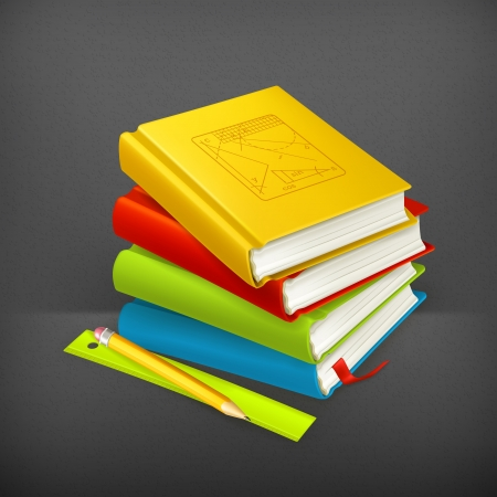 Stack of textbooks Stock Vector - 19474419