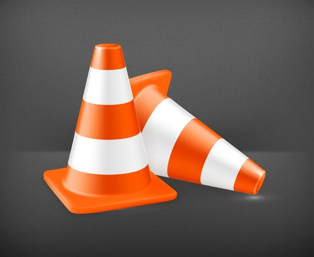 Traffic cone, icon Stock Vector - 19474369