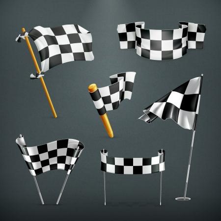 bandera carrera: Banderas a cuadros configurar