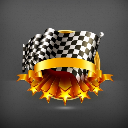 checker flag: Racing emblem