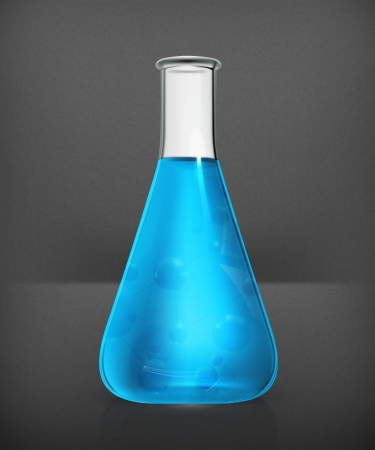 clinical research: Laboratory flask