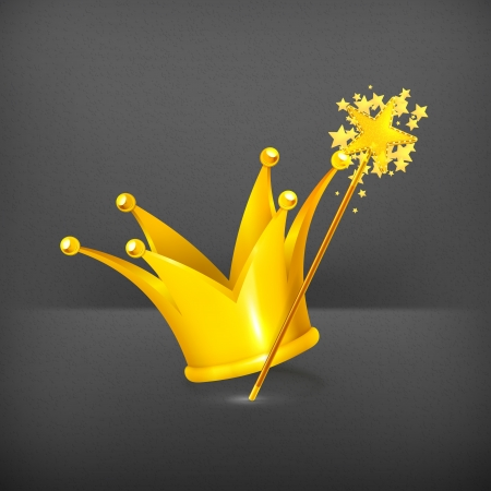 crown of light: Magic wand and crown