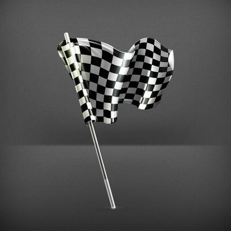 race start: Checkered flag Illustration