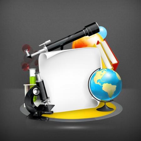 astronomie: Bildung und Wissenschaft Rahmen Illustration