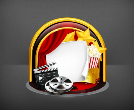 Movie frame Vector