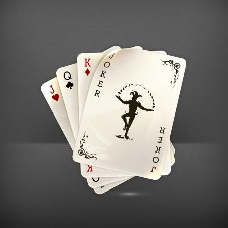 playing card symbols: Jugando a las cartas con un comod�n