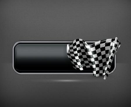 bandera carrera: Racing bandera de bandera Vectores