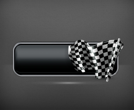 checker flag: Racing banner flag Illustration
