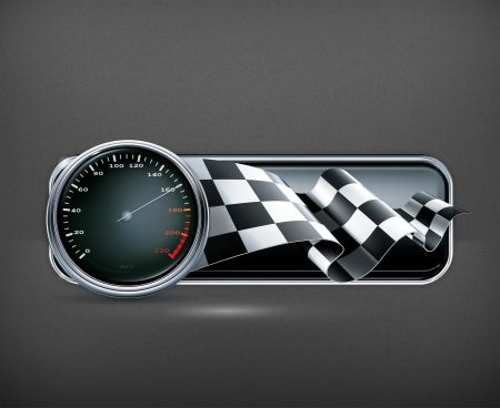 Racing banner with speedometer Stock Vector - 19556404
