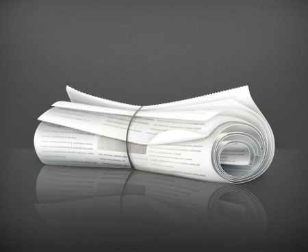 Rolled Newspaper Stock Vector - 19556410