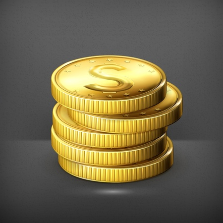 coins stack: Stack of coins Illustration