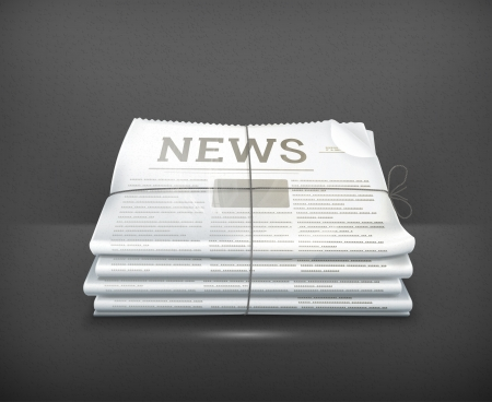 important information: Stack of newspapers Illustration