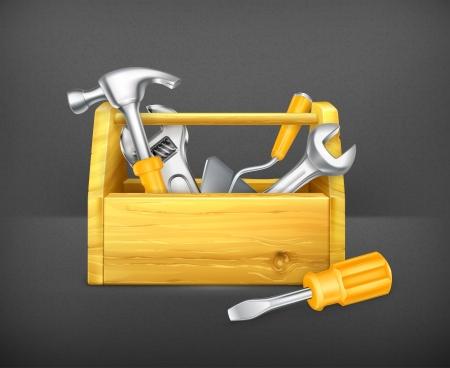 herramientas carpinteria: Caja de herramientas de madera