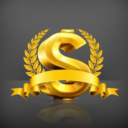 incomes: Dollar sign, emblem Illustration