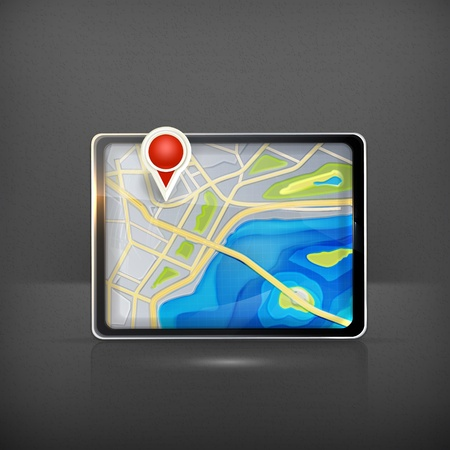 global positioning system: GPS map