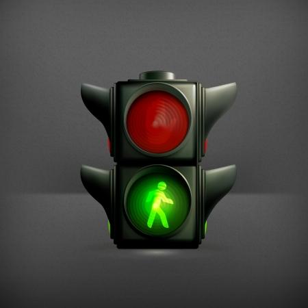 semaforo peatonal: Luz verde